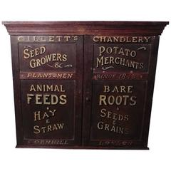 Victorian Painted Cupboard, Farm Shop Country Store, Gillett's London