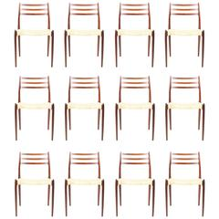 Elegant Dining Chair by N.O Moeller