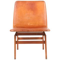 Great Looking Chair in Patinated Leather