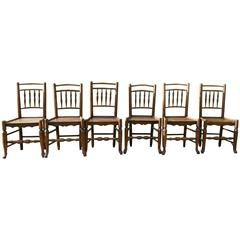 Set of Six, 18th Century Clissett Style Elm and Ash Country Chairs