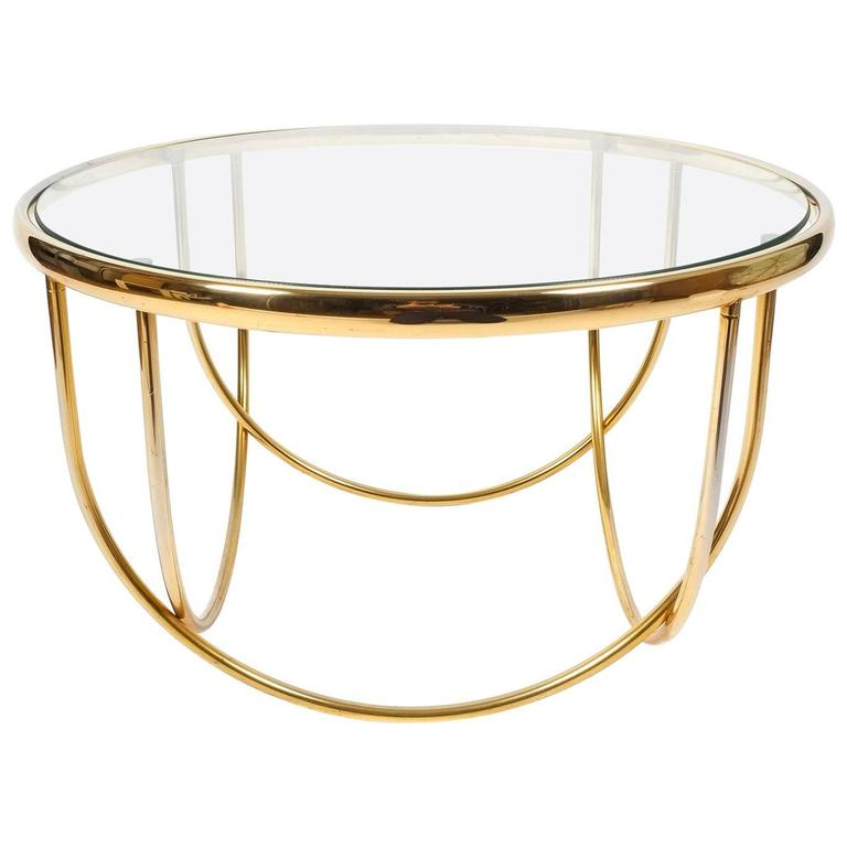 Beautiful Entwined Globe Cocktail Table Brass Glass France 1970 For Sale At 1stdibs