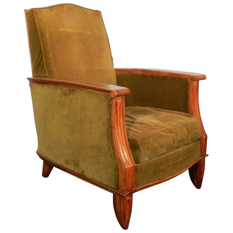 Art Deco Armchair Attributed to Maurice Jallot