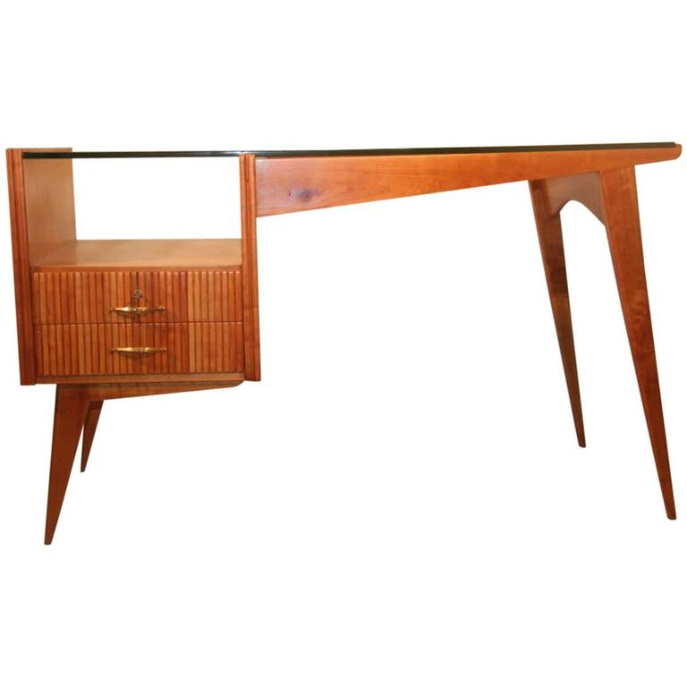 Minimal and Rational Desk in Maple in the Manner Carlo De Carlo
