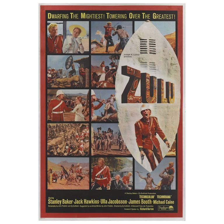 Zulu Original Us Movie Poster For Sale At 1stdibs