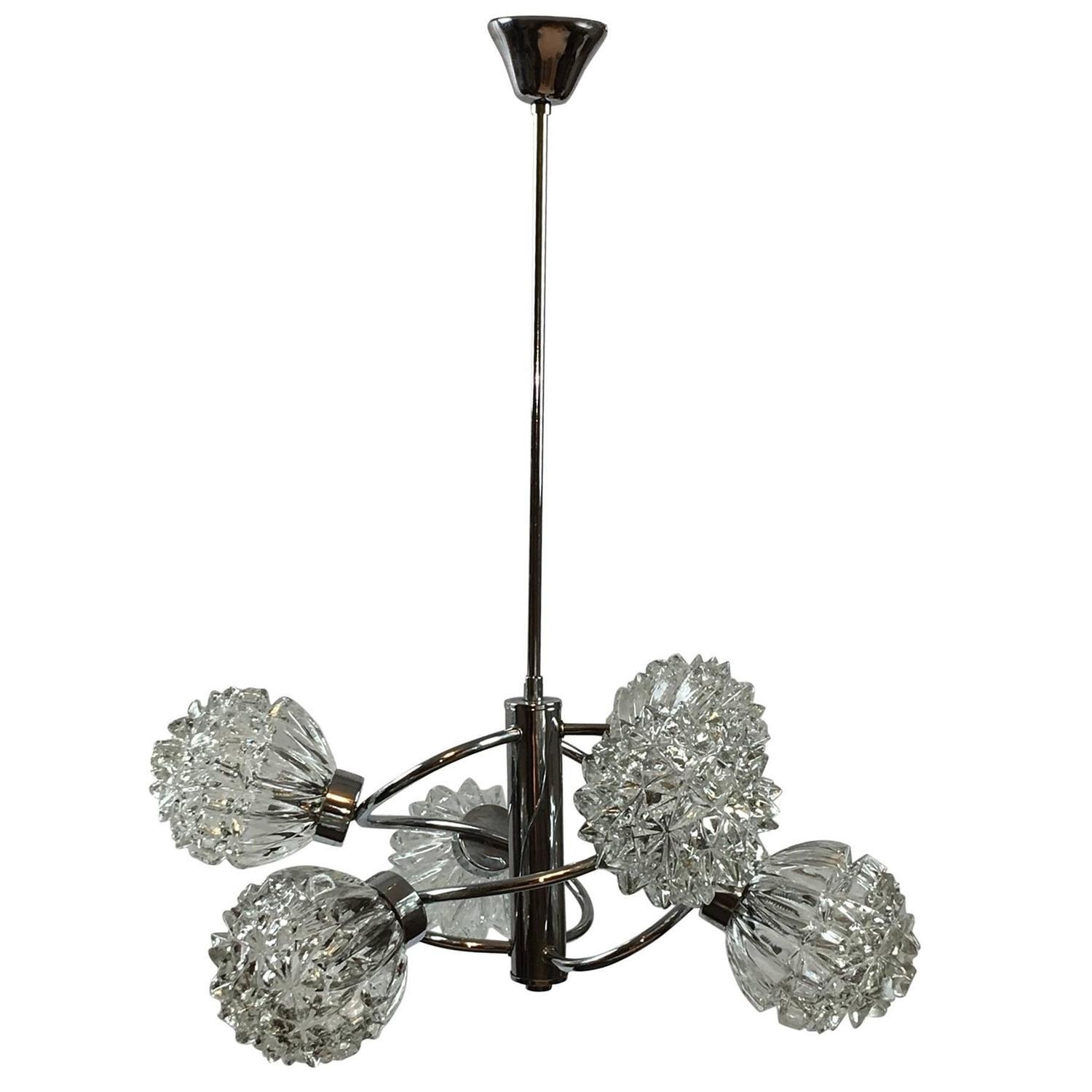 Stunning 12 Arm Sputnik Chandelier by Richard Essig Germany