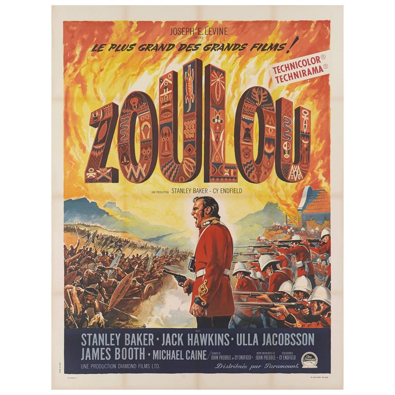 Zulu Original French Movie Poster For Sale At 1stdibs