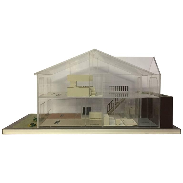 1970s Lucite Architectural Modern Home Model For Sale At 1stdibs
