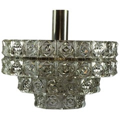1960s Faceted Three-Tier Crystal Kinkeldey Style Chandelier