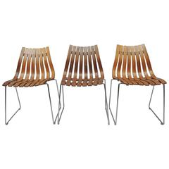 1950s Hans Brattrud Rosewood Dining Chairs