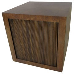 Henredon Brazilian Rosewood Rolling Bar Cube / Cart