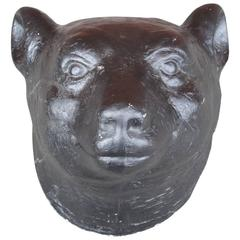 Plaster Bear Head