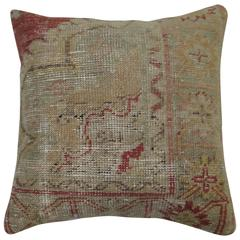 Shabby Chic Turkish Oushak Corner Border Pillow
