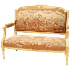 19th Century Louis XVI Settee