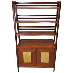 Mid-Century Natural Wood Bookshelf Attributed to Vladimir Kagan