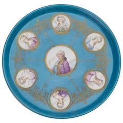 19th Century Sevres Style Portrait Medallion Charger