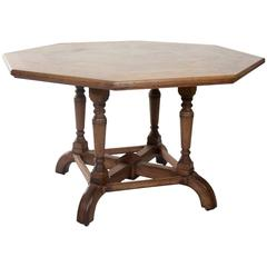 Octagonal Oak Parquetry Centre Table by Howard & Sons