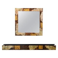 Paul Evans Patchwork Console and Mirror for Directional