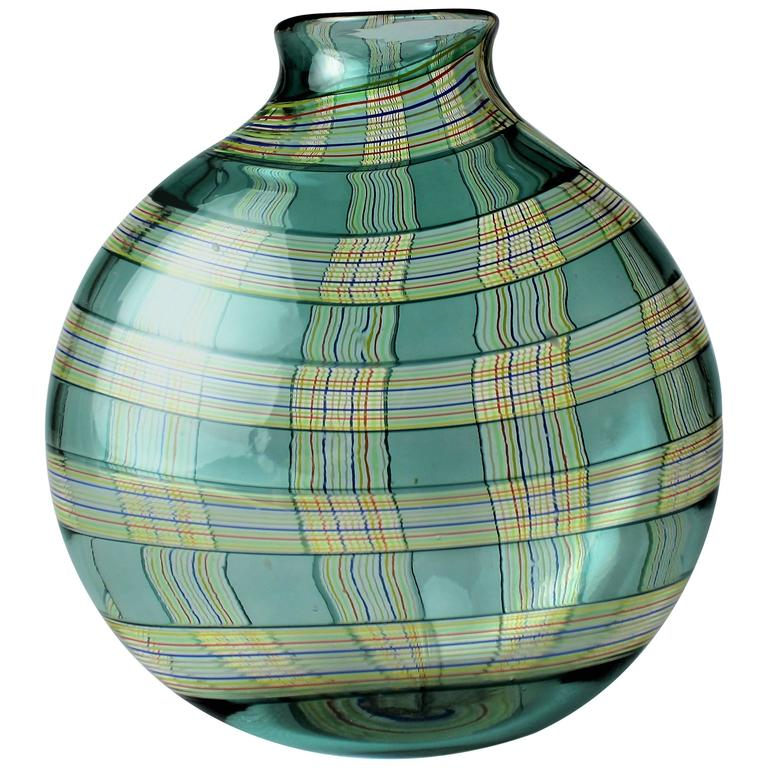 Blown Glass Ribbon Vase by Robin Mix for Tiffany & Co. 1