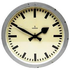 large siemens industrial or station wall clock