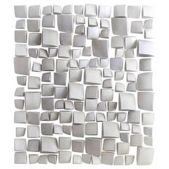 Maren Kloppmann, Wall Pillow Field, 2016, white ceramic wall installation