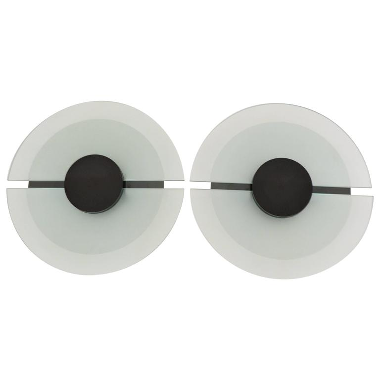 Pair of Post-Modern Wall Sconces