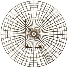 Mid-Century Circular Brass Wall Sculpture, 1960s