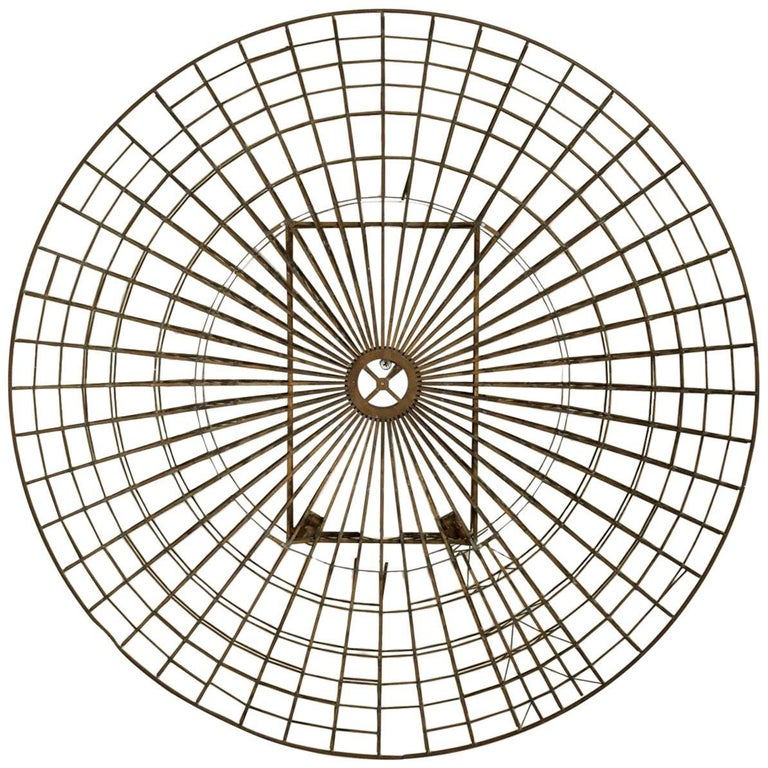 Mid-Century Circular Brass Wall Sculpture, 1960s For Sale