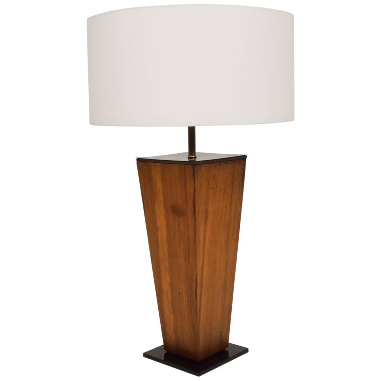 Midcentury Exotic Wood Sculptural Lamp, Mexico, 1950s