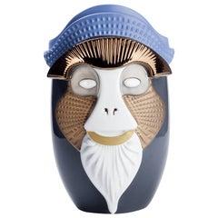 Primates Brazza Ceramic Vase Designed by Elena Salmistraro for Bosa