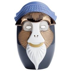 Primates Brazza Ceramic Vase Designed by Elena Salmistraro for Bosa
