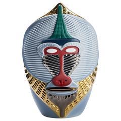 Primates Mandrillus Ceramic Vase Designed by Elena Salmistraro for Bosa