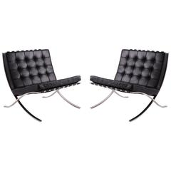 Early Mies van der Rohe for Knoll Barcelona Chairs