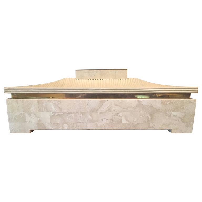 Maitland-Smith Tessellated Stone Box