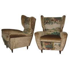 Pair of Armchairs Paolo Buffa 1960 Italian Mid-Century Design