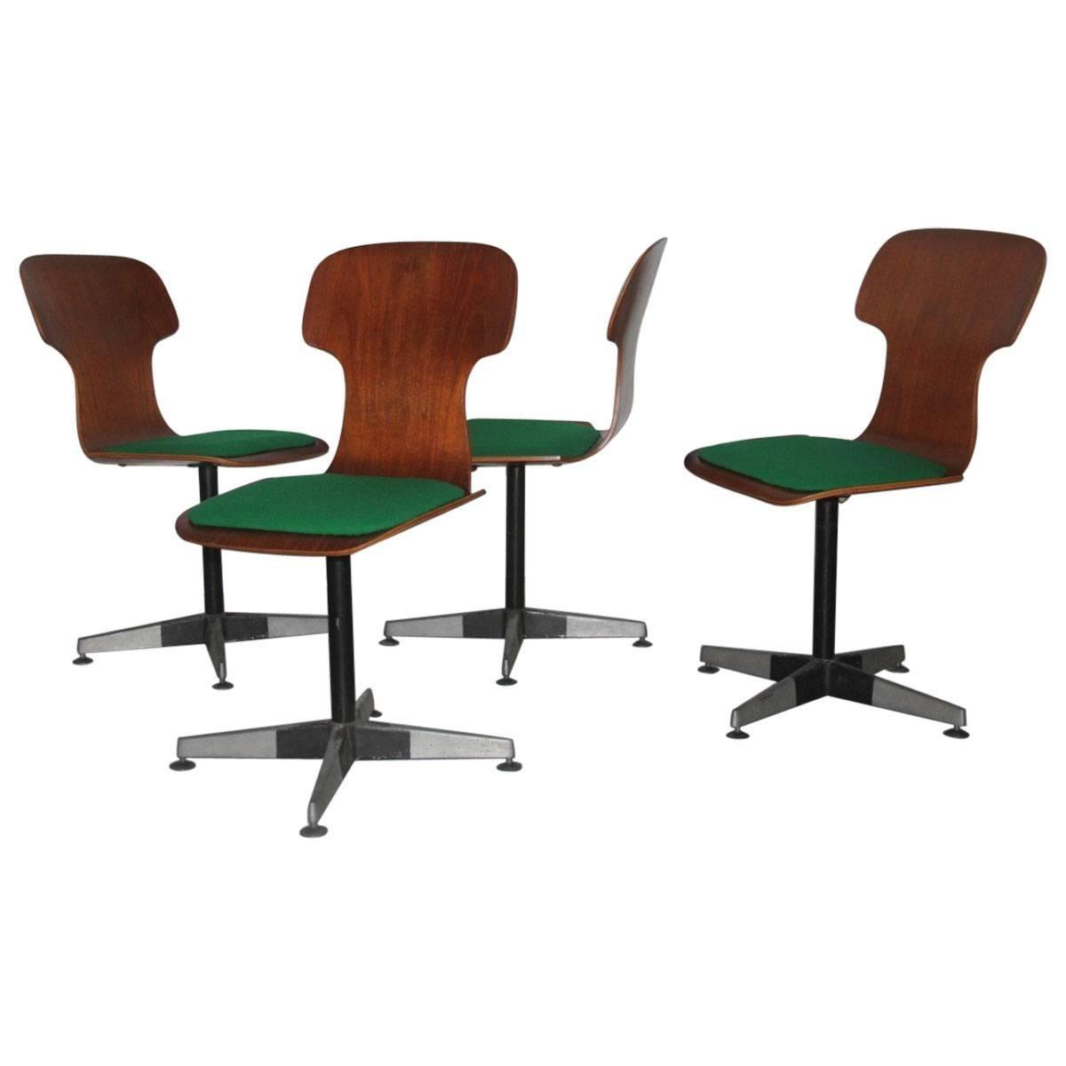 Carlo Ratti Original Chairs Mid-Century Bentwood Italian Design