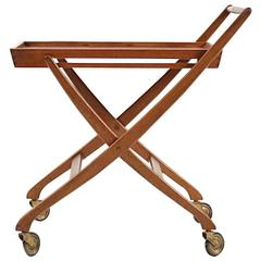 Mid-Century Danish Service Trolley in Teak