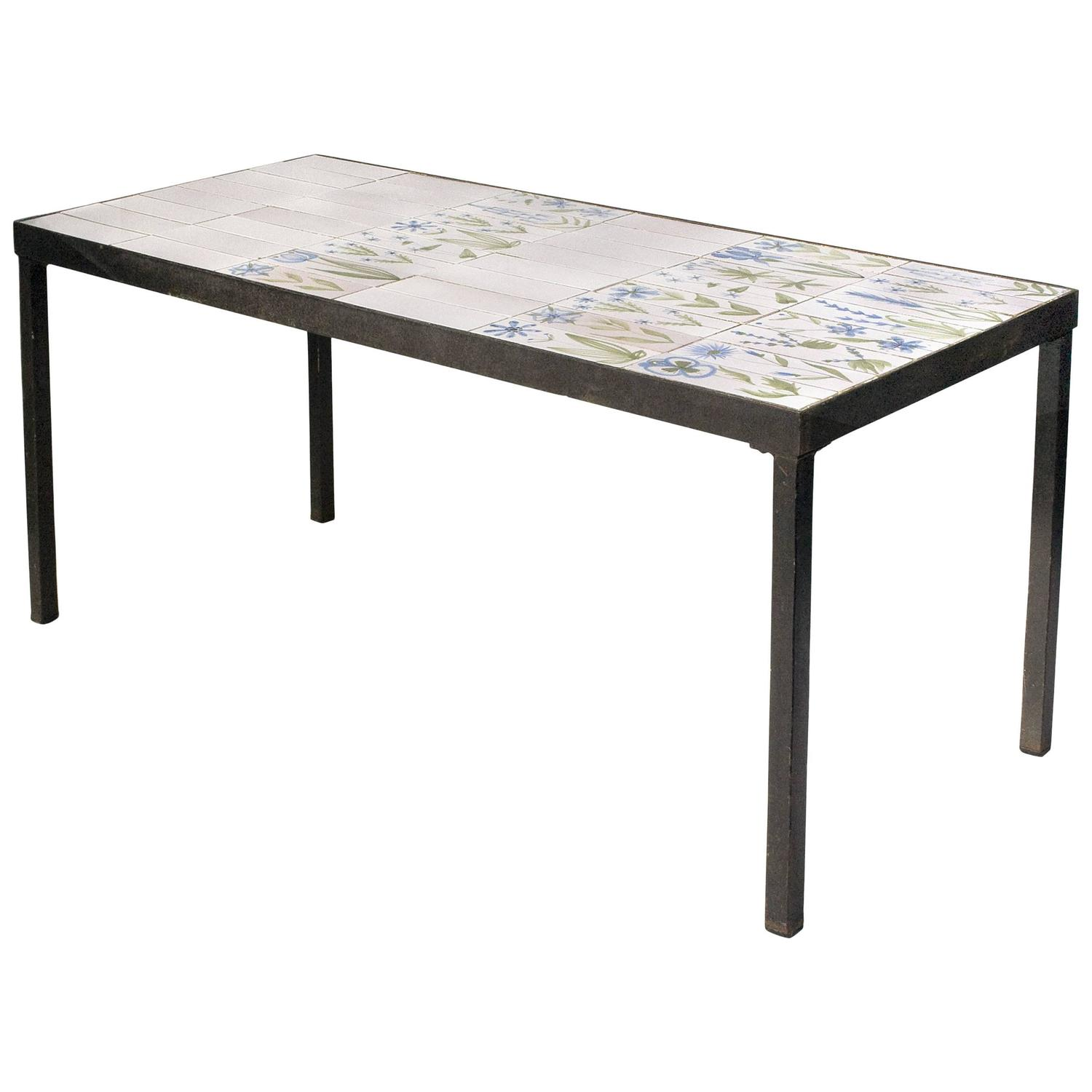 Roger Capron Ceramic Coffee Table, circa 1960, France at 1stdibs