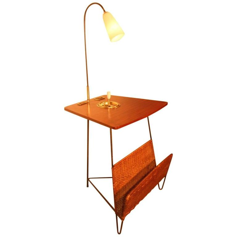 Side Table with Magazine Rack with Lamp Style Home & Campo&Graffi