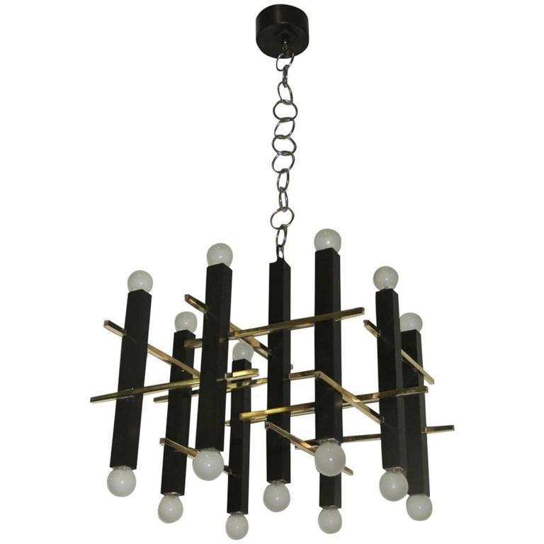 Minimal Elegant Ceiling Lamp Sciolari, 1960s, Italian Design For Sale
