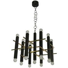 Minimal Elegant Ceiling Lamp Sciolari, 1960s, Italian Design