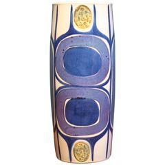 Danish Modern Vase by Inge Lise Koefoed for Aluminia or Royal Copenhagen, 1960s