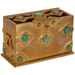 Malachite and Ormolu Gothic Style Antique Casket by Tiffany