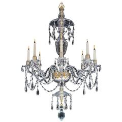 Fine George III Eight-Light Cut-Glass Chandelier