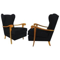 Pair of Wing Armchairs from the 1940s