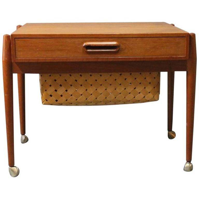 Small Sewing/Work Table in Teak, Danish Design, 1960s