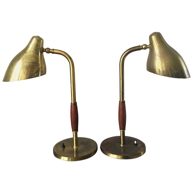 Vilhelm Lauritzen Standerlampe - Vilhelm Lauritzen Pair of Table Lamps For Sale at 1stdibs