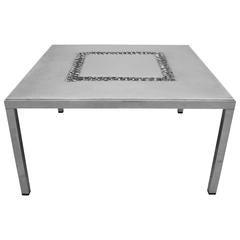 Brutalist Aluminum Coffee Table from Aluclair, Belgium