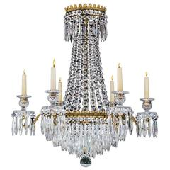 Fine Regency Period Cut Glass Chandelier