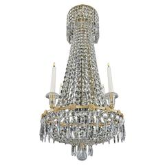 Regency Period Ormolu and Cut-Glass Chandelier