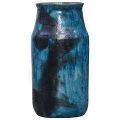 Huge Bruno Gambone Turquoise Vase